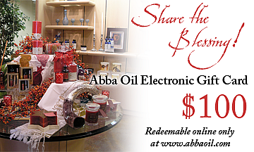 $100 ABBA ELECTRONIC GIFT CARD