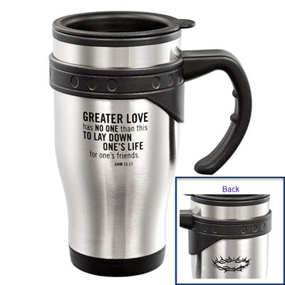 John 15:13 16 oz Stainless Steel Travel Mug