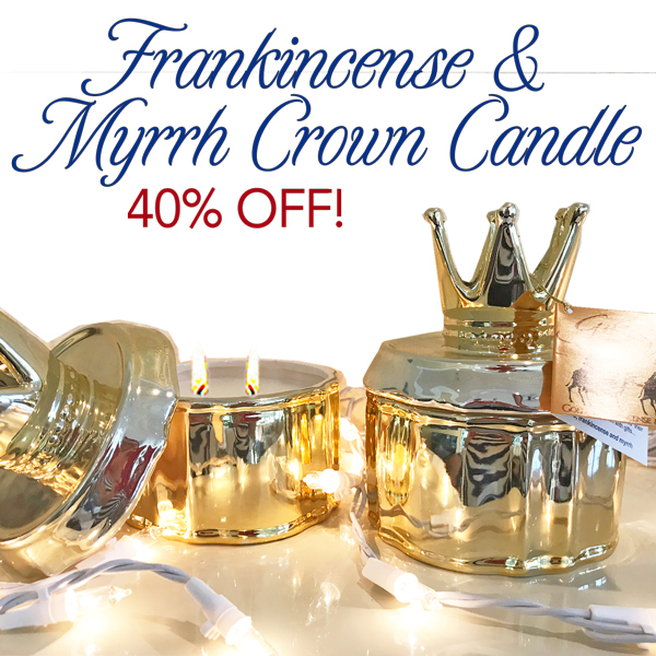 23% OFF! Gold Crown with Frankincense & Myrrh Candle (Reg $49.99)