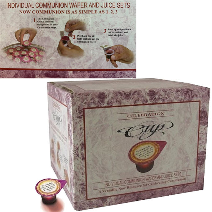COMMUNION - FELLOWSHIP CUP PREFILLED JUICE/WAFER (Box of 100)