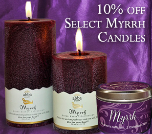 10% OFF Select Myrrh Candles
