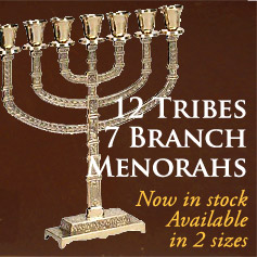 7-BRANCH MENORAHS IN STOCK!